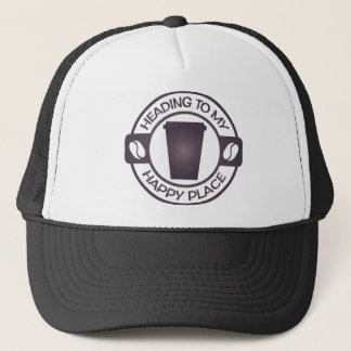 happy place coffee tea starbucks trucker hat