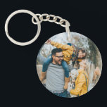 """Happy Place Keychain<br><div class=""""desc"""">Happiness is walks in the forest on a Sunday morning. Or trips away with friends. Or a really good keychain from Zazzle. Well, luckily for you, you can combine all your favorite things into one handy, high-quality package with our range of button acrylic keychains! The ultra-durable acrylic will protect your...</div>"""