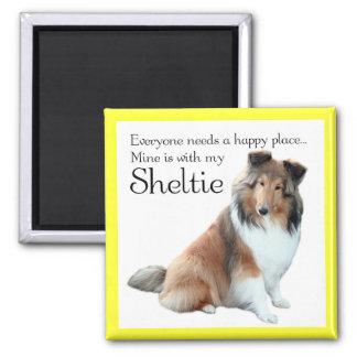 Happy Place Sheltie Magnet