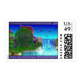 Happy Place Waterfall 033 Postage Stamp