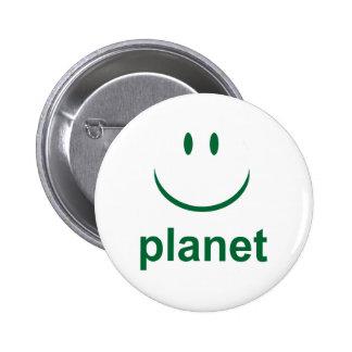 Happy Planet Pinback Button