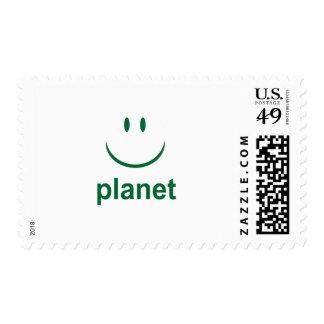 Happy Planet Stamp