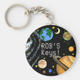 Happy Planets and Space Keychain