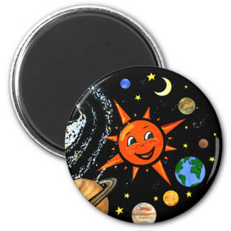 Happy Planets and Space Refrigerator Magnets