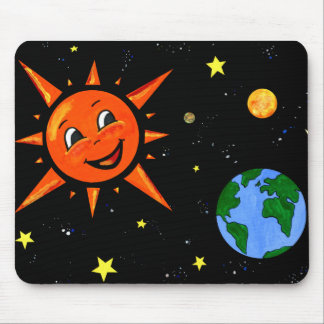 Happy Planets and Space Mouse Pad