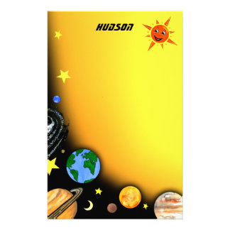Happy Planets and Space Stationery