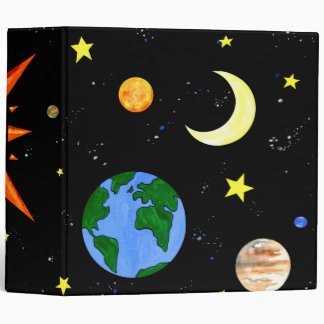 Happy Planets in Outer Space Binder