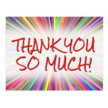 """[ Thumbnail: Happy & Playful """"Thank You So Much!"""" Postcard ]"""