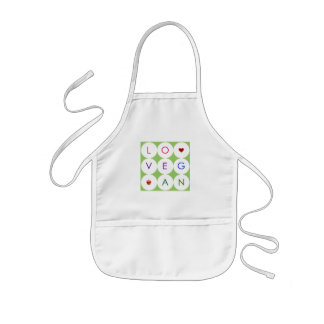 Happy Playful Vegan Kids' Apron