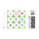 Happy Playful Vegan Postage Stamps