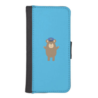 Happy Police Officer Bear Q1Q iPhone SE/5/5s Wallet Case