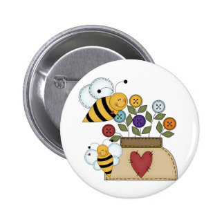 happy pollination pinback button