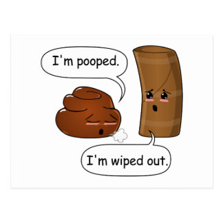 Happy Poo and TP Postcard
