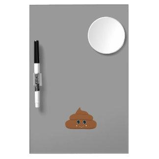 Happy poo dry erase board with mirror