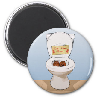 Happy Poos and Toilet 2 Inch Round Magnet