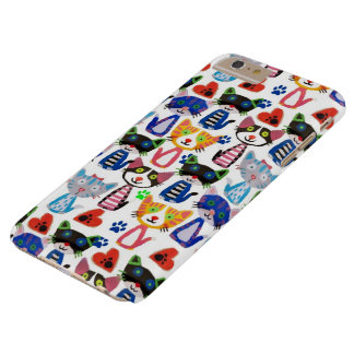 happy pop cats pattern barely there iPhone 6 plus case