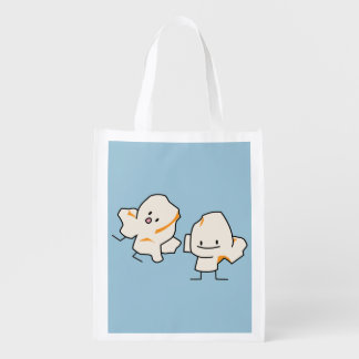 Happy Popcorn kernels popping buttered corn Grocery Bag