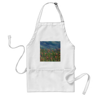Happy poppies adult apron