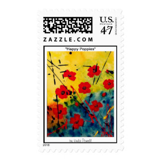 """""""Happy Poppies"""" by Linda Powell~Postage Postage"""