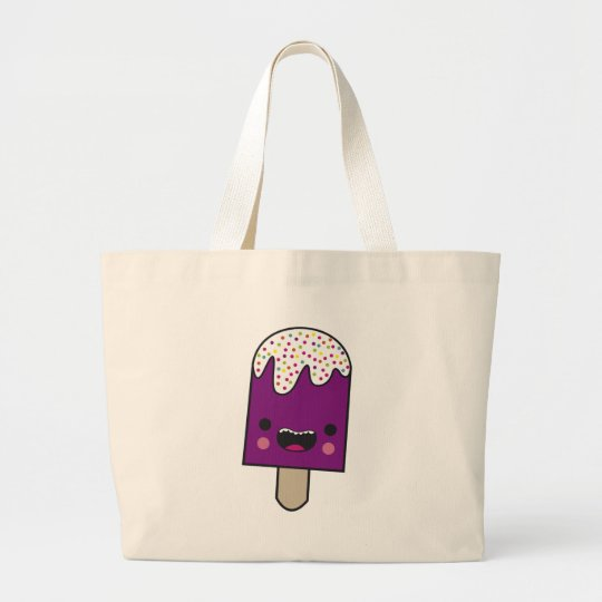 Happy Popsicle Large Tote Bag