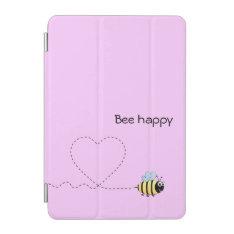 Happy Positive Bee In Love Cartoon Pink Ipad Mini Cover at Zazzle