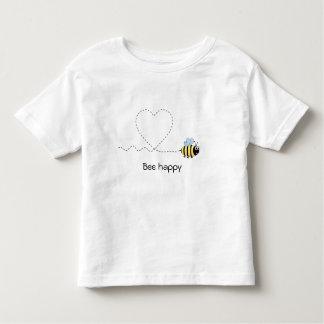 Happy positive bee in love cartoon toddler shirt