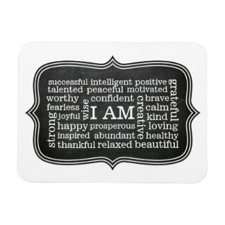 Happy Positive Thoughts I AM affirmations Magnet