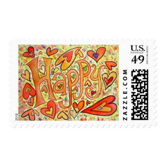 Happy Postage Stamp