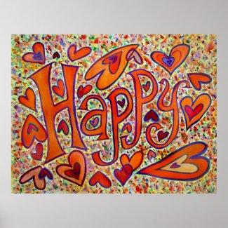 Happy Poster Print