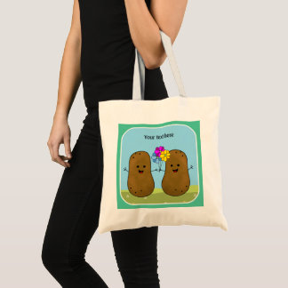 Happy Potatoes, A Bunch Of Flowers, Personalized Tote Bag