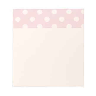 Happy ,powder pink,polka dot,white,girly,country, memo notepad