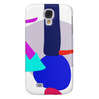 Happy Power Blue and Purple Galaxy S4 Cases