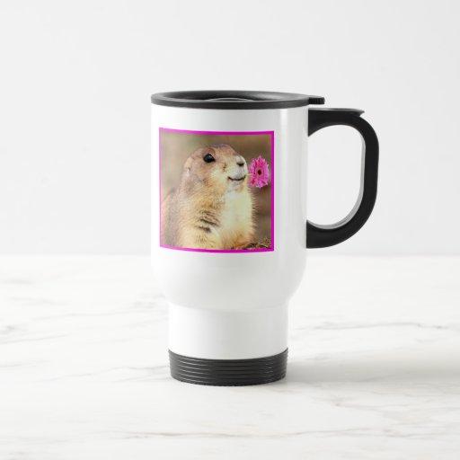 Happy Prairie dog travel mug