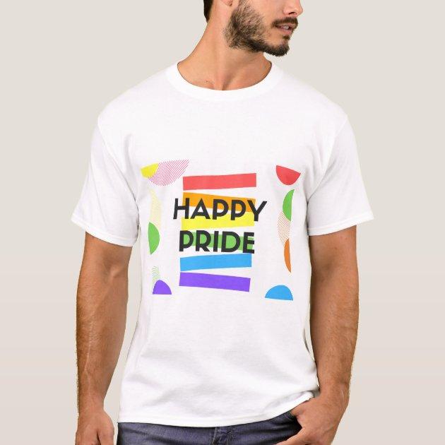 Mens GAY T-Shirt LGBQT Slogan Pride Festival LGBT Homosexual Symbol Love