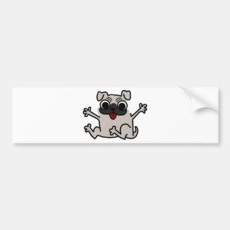 Happy Pug Bumper Sticker