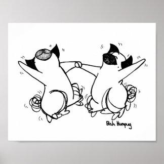 Happy Pug Dance Poster
