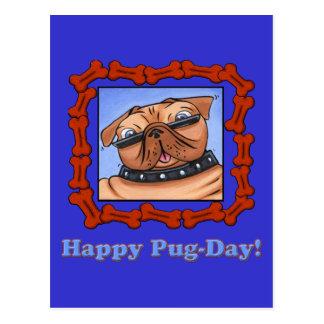 Happy Pug-Day! Postcard