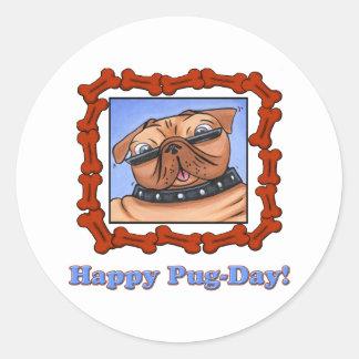 Happy Pug-Day! Stickers