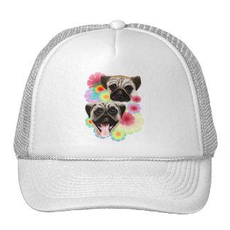 Happy Pug Grouchy Pug-Hat Trucker Hat