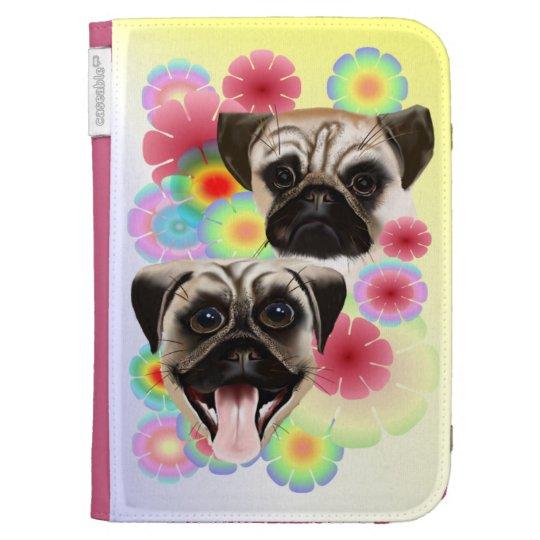Happy Pug Grouchy Pug-Kindle Kindle Keyboard Cases