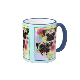 Happy Pug Grouchy Pug-Mug