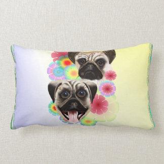 Happy Pug Grouchy Pug-Pillows Lumbar Pillow