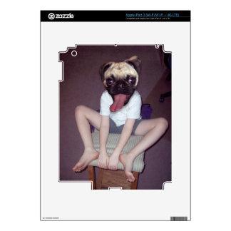 Happy Pug Kid - iPad 3 (Wi-Fi/Wi-Fi + 4G LTE) Decals For iPad 3