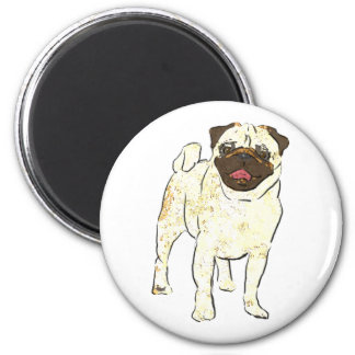 Happy Pug Magnet
