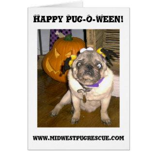 Happy Pug-O-Ween!, www.mid... Greeting Card