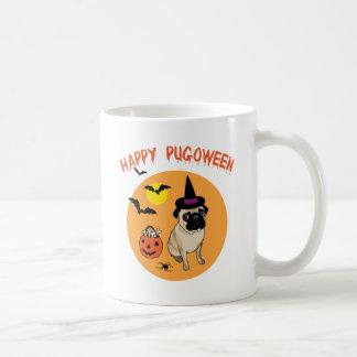 Happy Pugoween Halloween Pug Tees, Gifts Coffee Mug