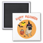 Happy Pugoween Halloween Pug Tees, Gifts Refrigerator Magnet