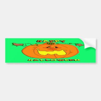 Happy Pumpkin Bumper Sticker