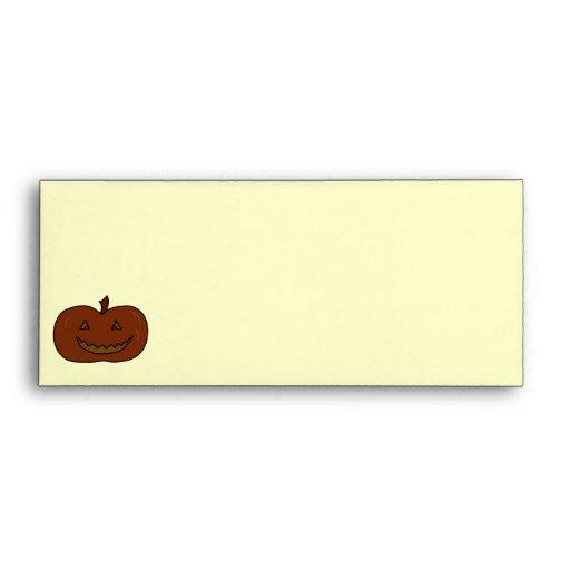 Happy Pumpkin. Dark Colors. Halloween. Envelope