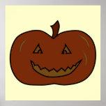 Happy Pumpkin. Dark Colors. Halloween. Print